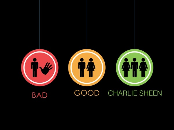 BAD, GOOD, CHARLIE SHEEN